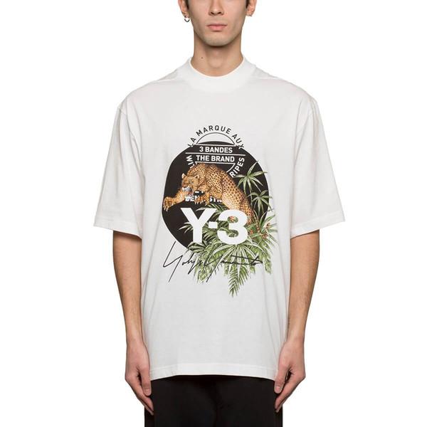 2018 Tumblr Тройник Y-3 T Shirt Новая мужская футболка Panther Graphic Tee Тропический стиль