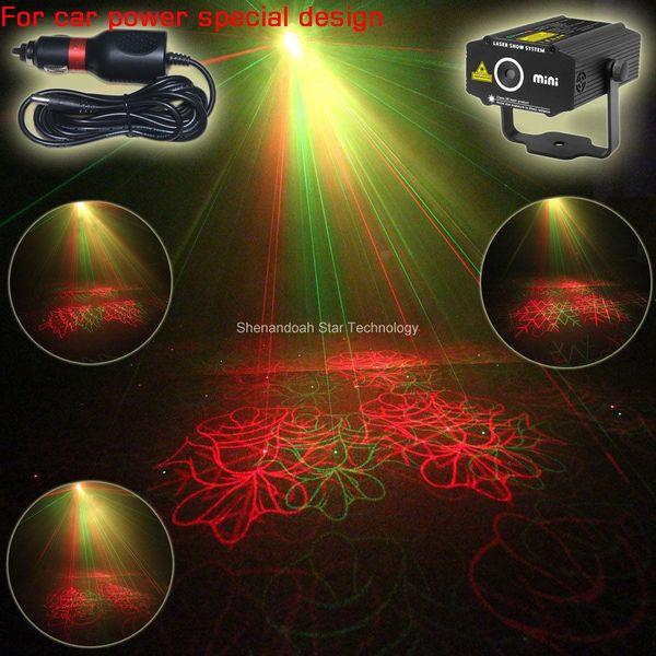 Car Used plug mini RG laser Chrismas 4 patterns Projector field outdoor garden hillside Park Party effect Xmas Light CR8