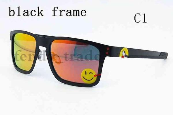 2018 nuevas gafas de sol de metal UV400 Lente polarizada Gafas de sol deportivas Tendencia de moda Ciclismo Gafas 13 colores