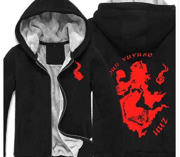 TouHou проект толстовка мужская повседневная зимние пальто куртки SAIGYOUJI YUYUKO печати молния кардиган кофты для мужчин и женщин