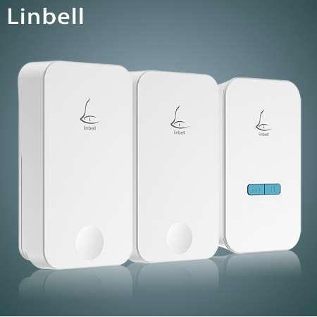 Linptech G4 kablosuz kapı zili yok pil çan su geçirmez uzaktan kapı zili AC 110-220 V 36 Model AB / ABD / İNGILTERE tak 2 düğme 1 alıcı