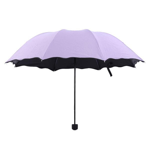 New Creative Travel Umbrellas Blossom In Water Colorful Three Folded Arched All Weather Umbrella With Coating 9 2hr Ww