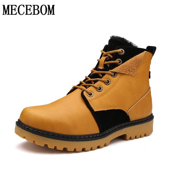 Männer neue Winter High-Top-Schuhe Mode Pelz warme Lace-up-Männer Freizeitschuhe Schneeschuhe Größe 39-44 cbb13