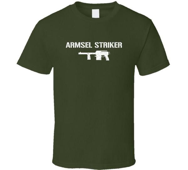 Maglietta afflitta militare di Armsel Striker Shotgun