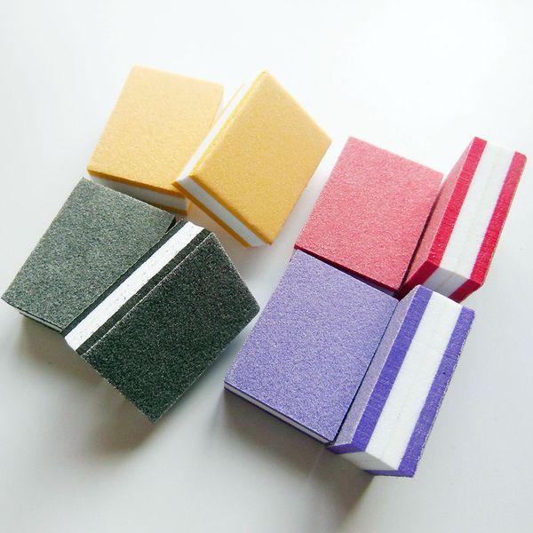 mini nail buffer block sponge block disposable nail file 100/180 mini nail buffer file manicure tool