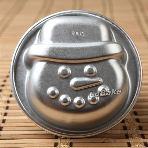 (5pcs/lot) Latest unique design small Xmas snowman shape aluminium mousse cupcake tarte makeup tart pan DIY baking moulds tools