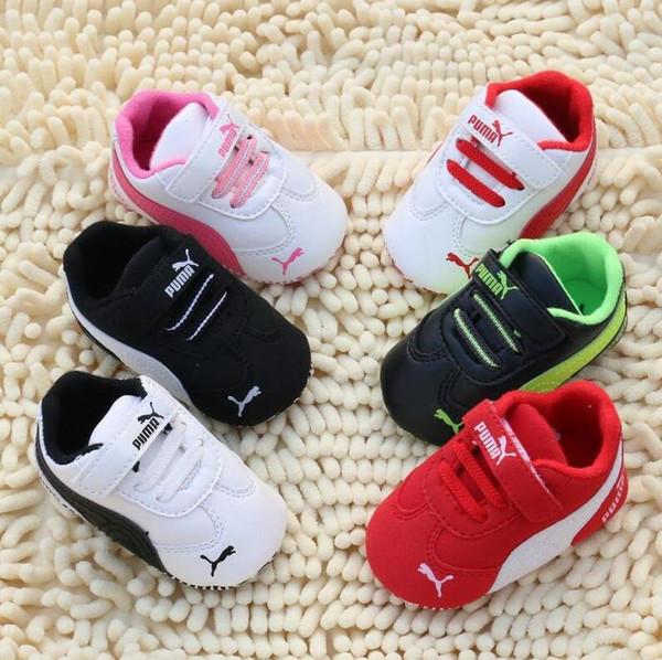 Marque Printemps Bébé Chaussures En Cuir PU Nouveau-Né Garçons Filles Chaussures Premiers Marcheurs Bébé Mocassins 0-18 Mois