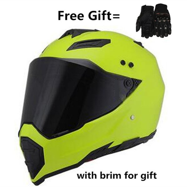 Free shipping Motorcycle AX DOT Proetctor Motocross Off-road Helmets with lens+Gloves gift S M L XL XXL
