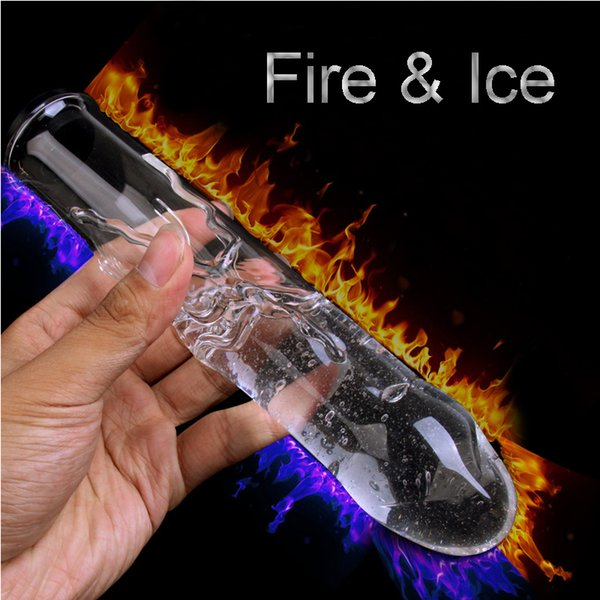 Sex Product New Injection Hot/Cold Water Glass Dildo Sex Toys For Women Hollow Add Water Glass Vibrator Cool Warm Anal Butt Plug Y18102305