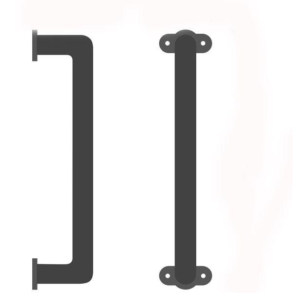 best selling Solid Cast Iron Sliding Barn Door Pull Handle Handrail Grab Bar Elegant Design For Cabinets Closets Interior Wooden Doors