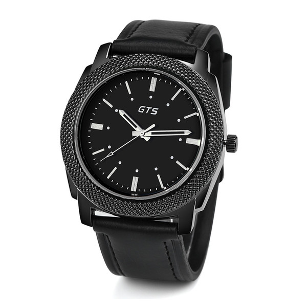 2018 Watches Men Date Alloy Case Synthetic Leather Analog Quartz Sport Watch Male Clock Relogio Masculino Drop Shipping
