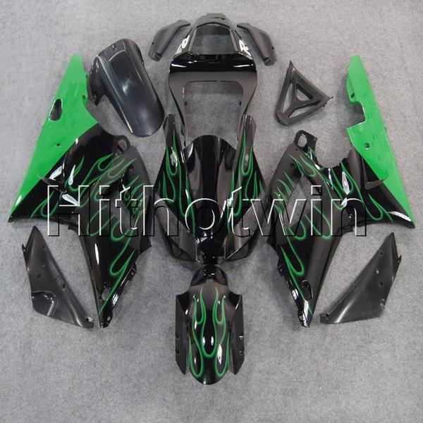 23colors + 8Gifts green flame Kit moto carenatura per Yamaha YZFR1 00-01 YZF R1 2000 2001 Carenatura in plastica ABS