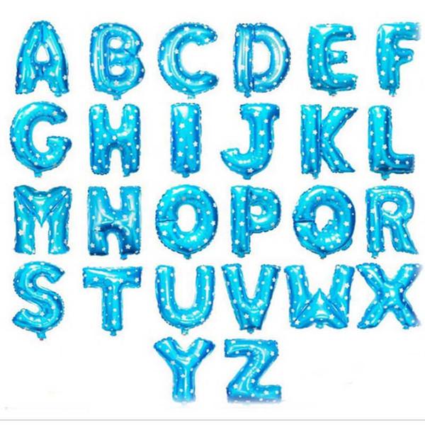 lettere blu dalla A alla Z