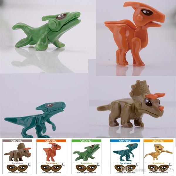 6 cm Mini Dinossauros do Mundo Jurássico Figura Kid Blocos de Construção de Brinquedos de Brinquedo Do Bebê Modelo Minifigures Tijolo