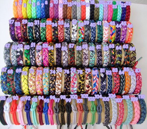 Braid String Bracelet DIY Rope Shoelace Fashion Mens Cord Bracelet Jewelry Lot Mixed Styles 17cm Wholesale