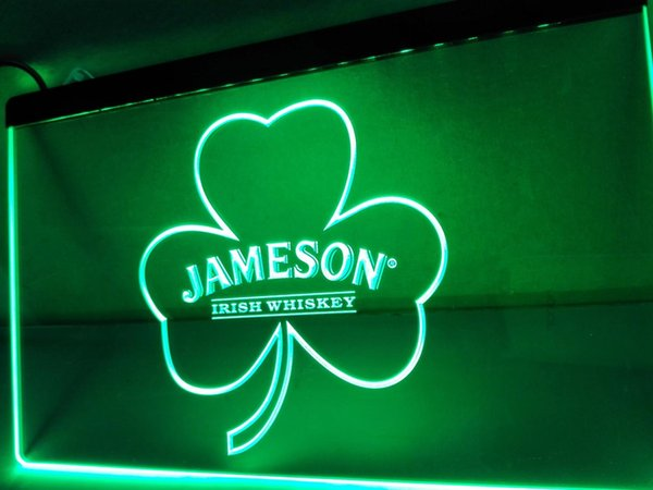 LE215- Jameson Whiskey Shamrock LED Neon Light Sign