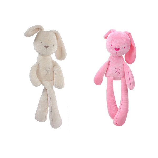 Cute Soft Good Rabbit Bunny Plush Toy Sleeping Comfort Stuffed Animal Baby Doll for Toddler Kids Baby Gift Bed Hanging