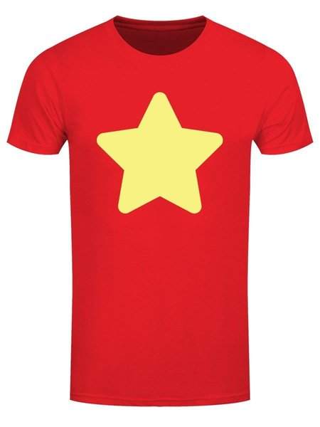 2018 Short Sleeve Cotton T Shirts Man Clothing Men's Crystal Gem Star Red T-Shirt100% Cotton Print Mens Summer O-Neck