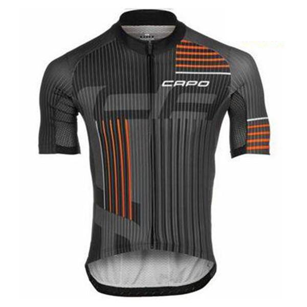 CAPO 2018 Radtrikot Fahrrad Tops Sommer Racing Radsportbekleidung Kurzarm mtb Bike Shirts schnell trocken Maillot Ciclismo 111206Y