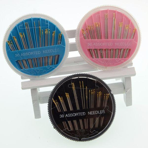 30pcs aghi assortiti mano cucito aghi multifunzione in acciaio inox strumenti artigianali aghi manuali disco vendita calda