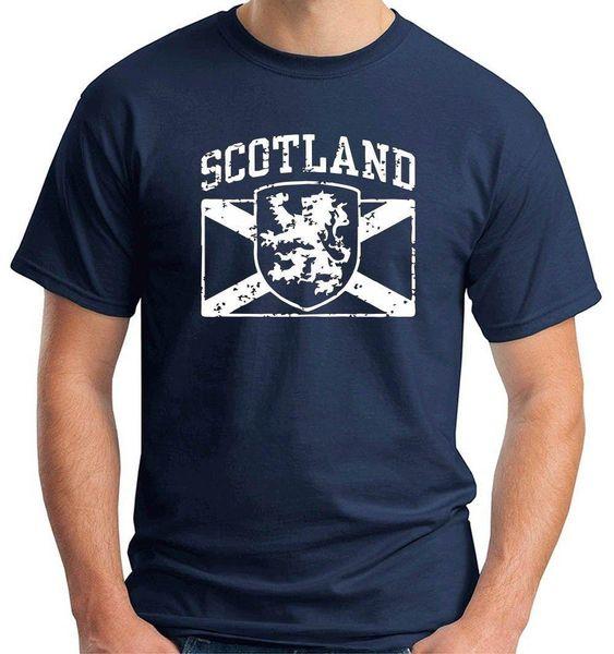 Розовой МАТЕРИGLIETTA футболка Шотландия Scozia печатные футболка мода Марка топ футболка печать шею мужчины мода