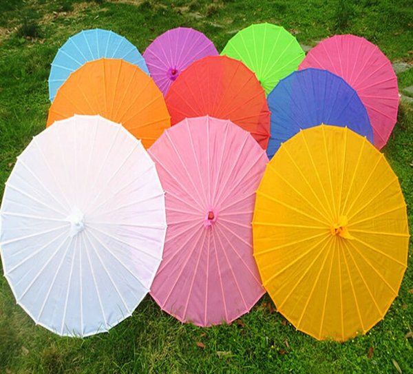 new Free shipping Small & big Chinese colorful Umbrella China traditional dance color parasol Japanese silk props