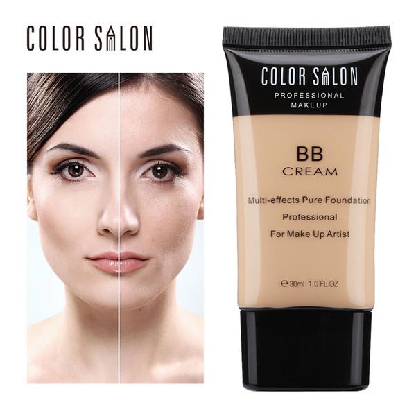 Цветной салон Основа для макияжа Тональный крем Корректор BB Крем для лица Крем для макияжа 30мл Грунтовка Nude Foundation Косметика для лица Beauty