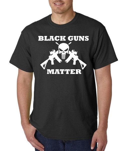 Black Guns Matter T-Shirt, S-3XL, Lives 2nd Amendment Rights Punisher AR-15 NRA