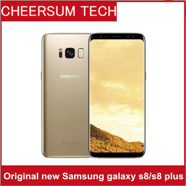 Original Samsung Galaxy S8 S8 Plus G950U G950F G955U Mobile Phone Dual SIM  5 8 Inch Octa Core 4GB RAM 64GB ROM 4G LTE 12MP Android Phone Used And