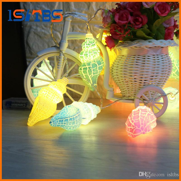 1Set 3V Conch LED Holiday String light Christmas Wedding Party Festival Twinkle Decoration Ocean Style Lamp Bulb