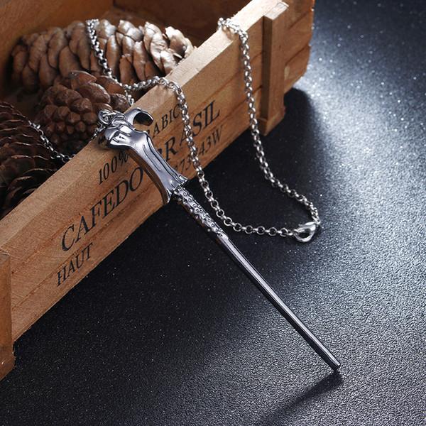Harry Film Six Phalanx Baguette Magique Pendentif Collier Film Collier En Gros Cosplay Décor Potter Magic Bâton Collier Cadeau