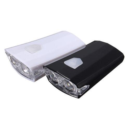 Waterproof MTB Mountain Bike USB Rechargeable LED Torch Front Light Lamp 15Lumen