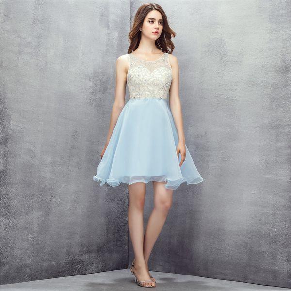 Sweetheart Evening Dresses 2018 Robe De Soiree Sweet 16 Graduation Dress Short Prom Dress Key Hole Back Cocktail Dress SH0117