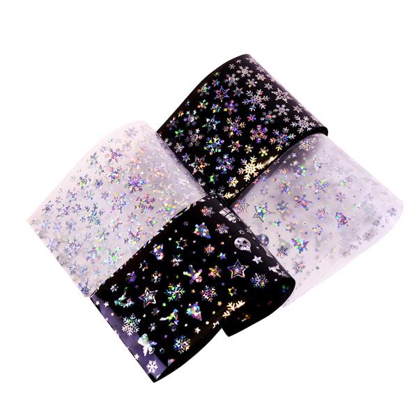 100x4cm Nail Art Foils Transfer Sticker Snowflake Design Christmas Decals Shining Manicure Gifts Winter Sticker Decor BEXK94-97