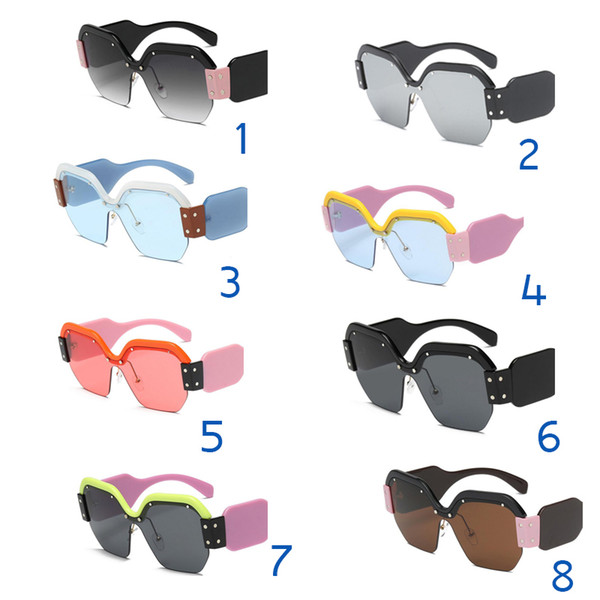 Sexy randlose übergroße sonnenbrille frauen vintage 2018 rot rosa top-qualität sonnenbrille für weibliche niet großen rahmen männlich shades
