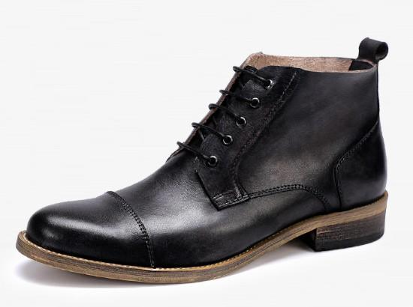 En kaliteli Martin ayakkabı Erkekler Kış sıcak Deri ayak bileği çizmeler pürüzsüz dana dışında domuz derisi iç pick up uzun giymek, neden olmasın