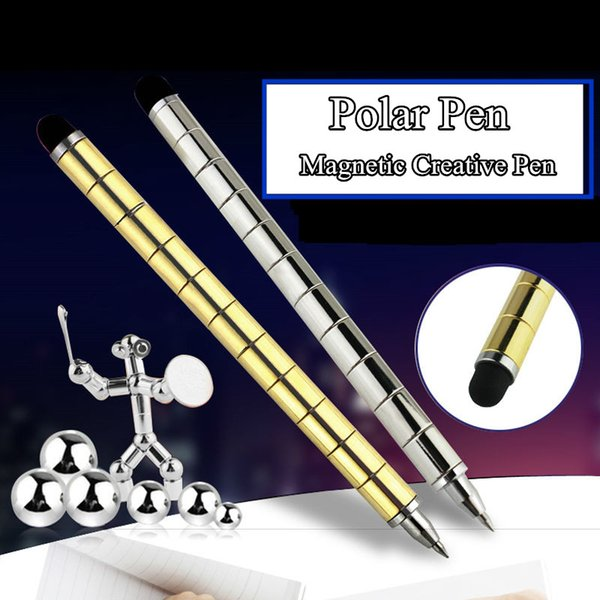 Polar Pen Modular Magnetic Magic Fidget Pen DIY for Fidgeter As Antistress Cube Tool Toy Writting On Paper& iPad Stress Wheel