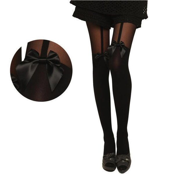 Moda Donna Donna Ragazze Nero Sexy Calze a rete Jacquard Calze Collant Stili Donna 1pcs dww02