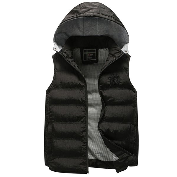 vetement femme 2018 New Man Casual Jacket Men's Autumn Winter Coat Padded Cotton Vest Warm Hooded Thick Vest Jacket Top jaqueta