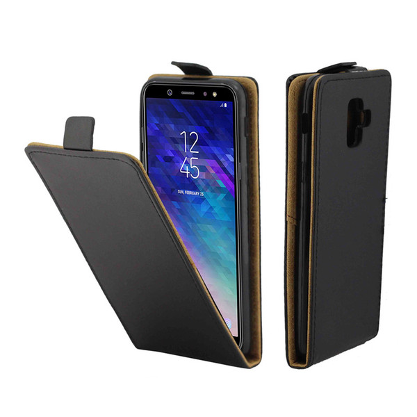Business Leather Case For Coque Samsung Galaxy A6 2018 Vertical Flip Cover Card Slot Cases For Samsung A6 2018 Phone Bags