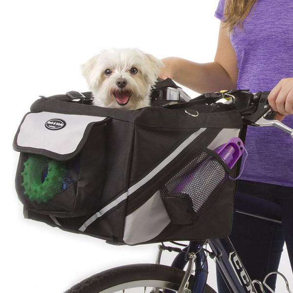 Portable Pet Dog Bicycle Carrier Bag Basket Puppy Dog Cat Travel Bike Carrier Seat Bag for Small Pets Outdoor Sports Hiking