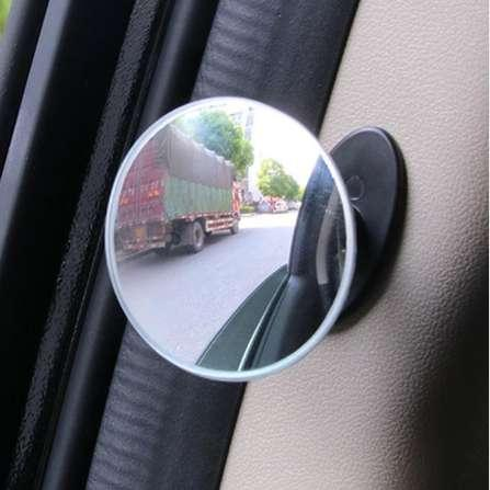 Car Wide Angle Round Convex Mirror Car Vehicle Side Blind Spot Mirror Wide Rear View Mirror Small Roundr