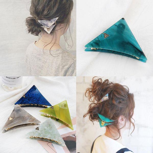Fashion Triangle Hair Clip Morsetti per donna Lady Girl - Hairpin Barrette Headwear Hair Pins Accessori Hair Styling Treccia Strumenti