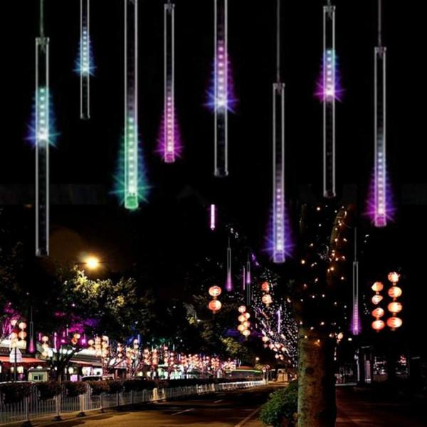 20/30 / 50CM Luzes de Natal Cortina Ao Ar Livre Luzes LED String Decoração Luzes LED Bar para festa de casamento Luz Corda Ao Ar Livre