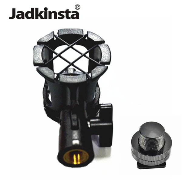 Toptan 2in1 Kiti Anti-Şok Mikrofon Süspansiyon Şok Dağı Kalem Kelepçe Kondenser Tutucu Klip + 5/8 Sıcak Ayakkabı Montaj Adaptörü