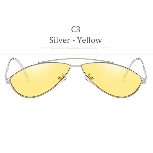 C3 Obiettivo giallo in metallo argento