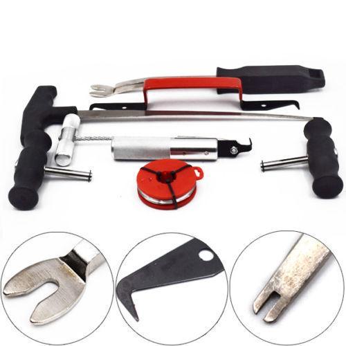Neueste Windschutzscheibenentfernungswerkzeug Kit 7pc Automotive Windglas Entferner Handwerkzeug