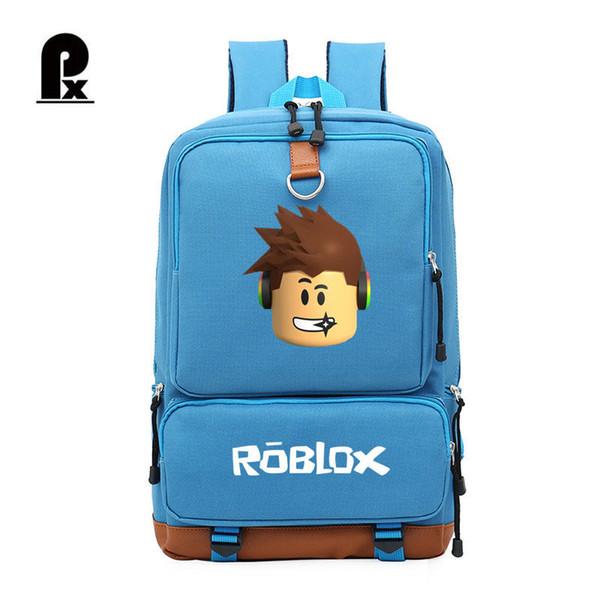 2018 школьный рюкзак Roblox рюкзак для подростка Мужской для ноутбука 14-15 дюймов Stdudent путешествия ноутбук сумки