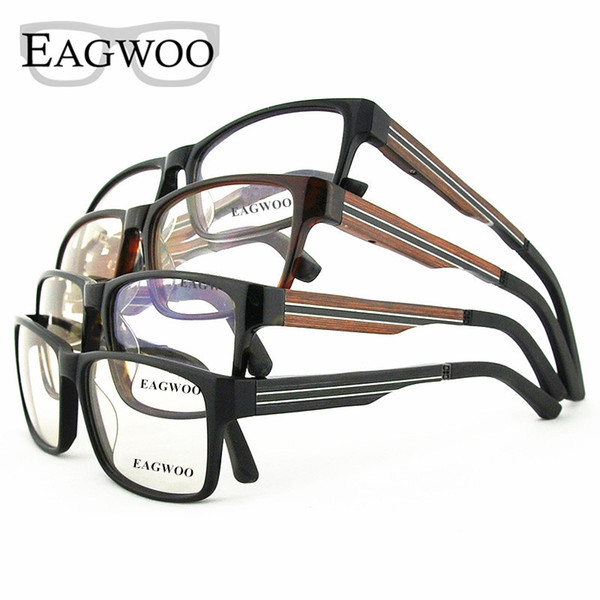 Ebony Wooden Eyeglasses Wood Fashion Prescription Optical Frame Man Full Rim Spectacel Fashion Big Face Myopia Glasses 81106834