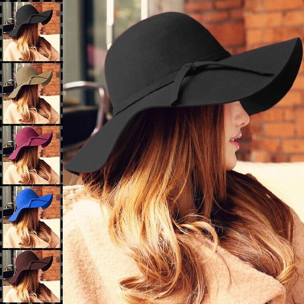 6 Colors Women Wide Brim Hat Floppy Derby Large Beach Sunhat Straw Free Shipping It's not just a hat I think it's for the person you love